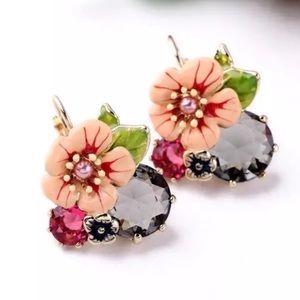 Anthropologie Floreat Cluster Earrings